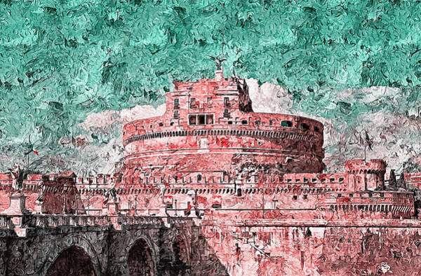 Painting - Rome, Mausoleum Of Hadrian - 06 by Andrea Mazzocchetti