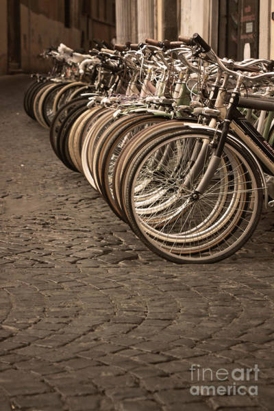 Bicycle Rack Photograph - Rome Street Photo by Stefano Senise