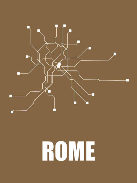 Wall Art - Digital Art - Rome Subway Map 2 by Naxart Studio