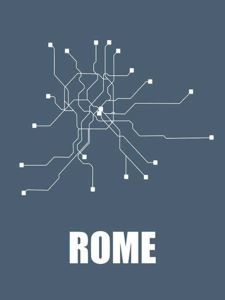 Wall Art - Digital Art - Rome Subway Map by Naxart Studio