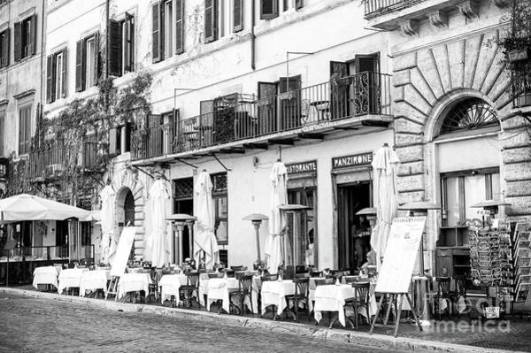 Photograph - Rome Tables Lined Up by John Rizzuto