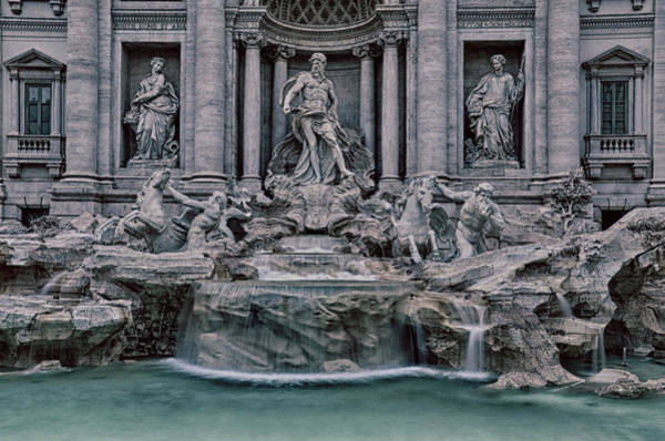 Photograph - Rome Trevi Fountain by Jim Cook