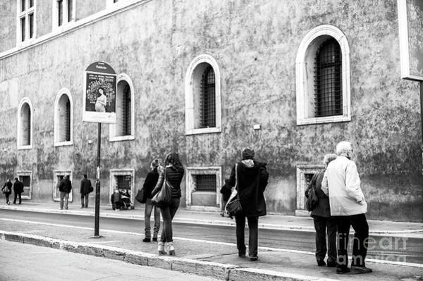 Photograph - Rome Waiting For The Bus by John Rizzuto