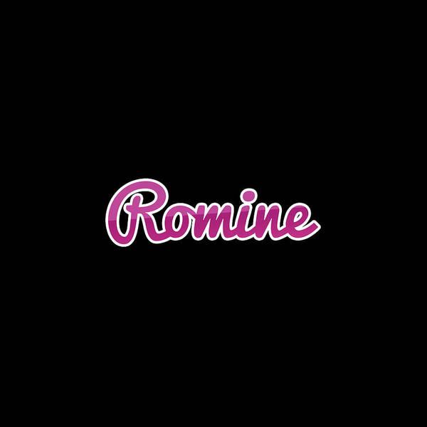 Wall Art - Digital Art - Romine #romine by TintoDesigns