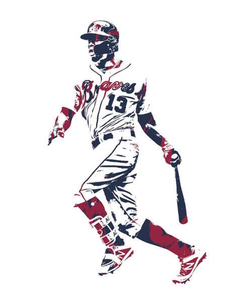 Wall Art - Mixed Media - Ronald Acuna Jr Atlanta Braves Pixel Art 2 by Joe Hamilton