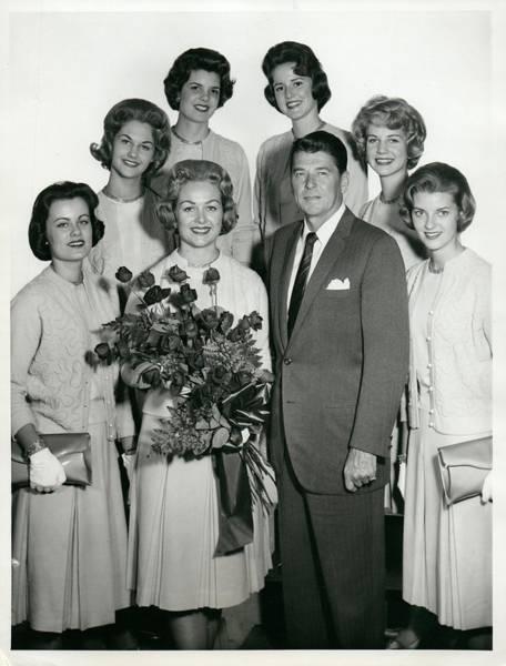 Tournament Of Roses Photograph - Ronald Reagan Nancy Davis Roses Parade by Billy Grace