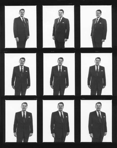 Us President Photograph - Ronald Reagan Portrait Session by George Rose
