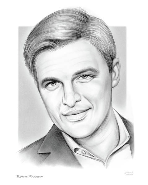 Wall Art - Drawing - Ronan Farrow by Greg Joens