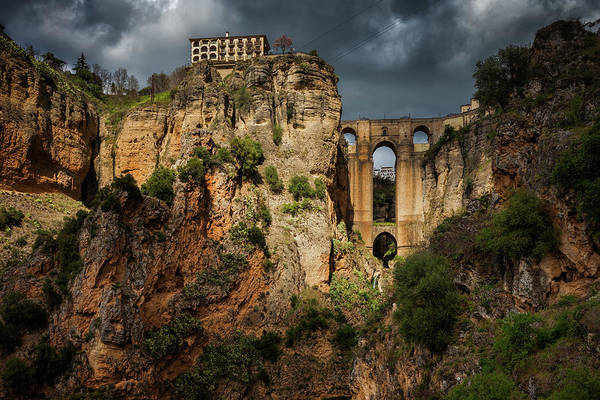 Wall Art - Photograph - Ronda Bridge And Andalucia Landscape In Spain by Artur Bogacki