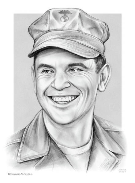 Drawing - Ronnie Schell 2 by Greg Joens