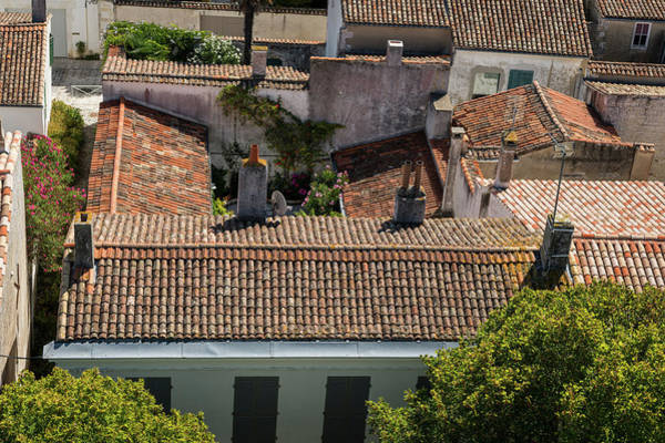 Photograph - roofs of the houses in Saint Martin de re from above by Stefan Rotter