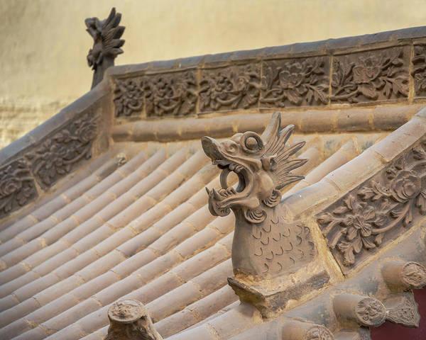 Photograph - Rooftop Art Guan City Jiayuguan Gansu China by Adam Rainoff