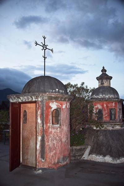 Wall Art - Photograph - Rooftop Eventide In Guatemala by Douglas Barnett