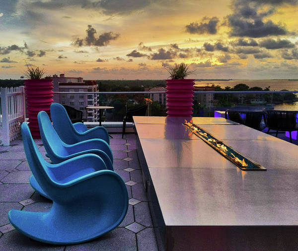 Photograph - Rooftop Sunset by Portia Olaughlin