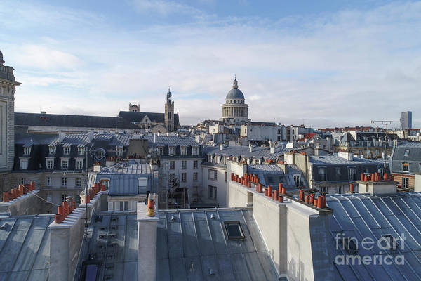 Wall Art - Photograph - rooftop view of Paris, b by Ben Massiot