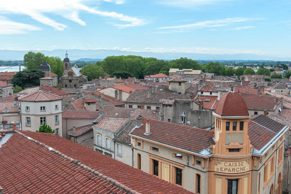 Wall Art - Photograph - Rooftop View, Tournon, France by Lisa S. Engelbrecht