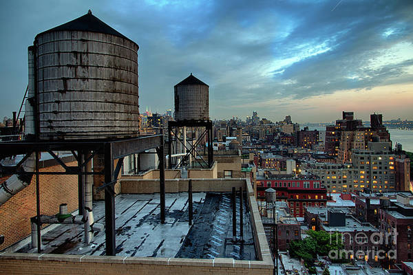 Wall Art - Photograph - Rooftop Water Towers, New York City, Usa by Joe Josephs