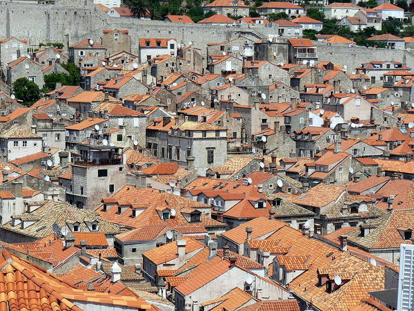 Old Photograph - Rooftops Of Dubrovnik Old City by Wellsie82