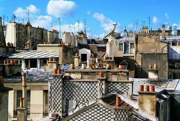 Paris Rooftop Photograph - Rooftops, Paris, France by Bruno Ehrs