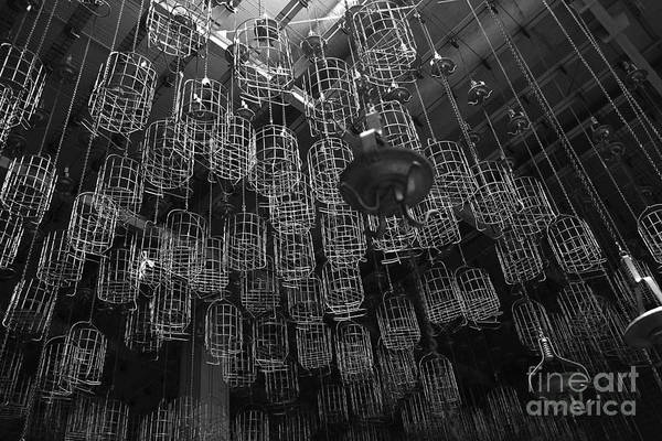 Wall Art - Photograph - Room Full Of Baskets Hanging From by Andreas Chronz