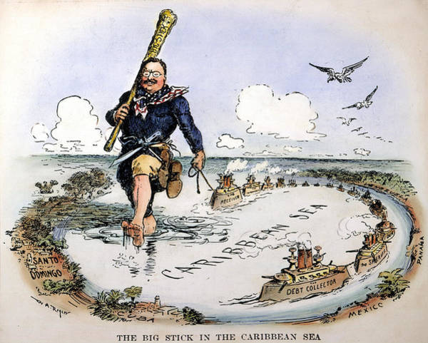 Wall Art - Drawing - Roosevelt In The Caribbean by William Allen Rogers