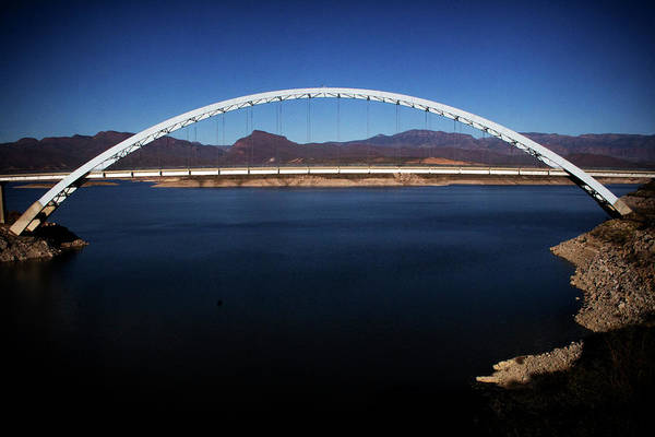 Photograph - Roosevelt Lake Bridge Arizona by Roger Passman