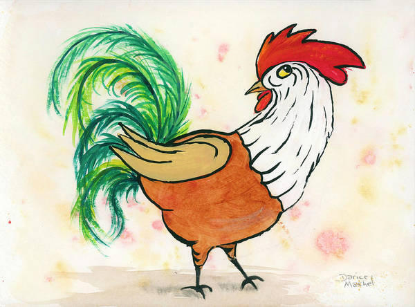 Painting - Rooster 10 by Darice Machel McGuire