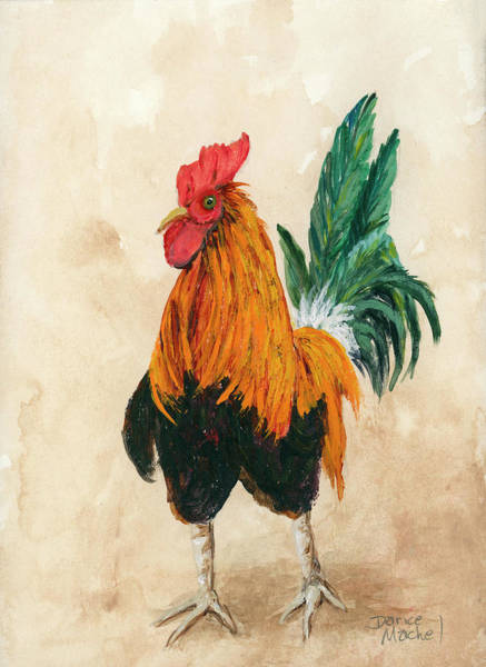 Painting - Rooster 7 by Darice Machel McGuire