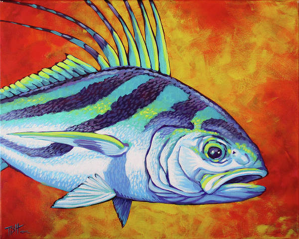 Rooster Fish 2 Art Print