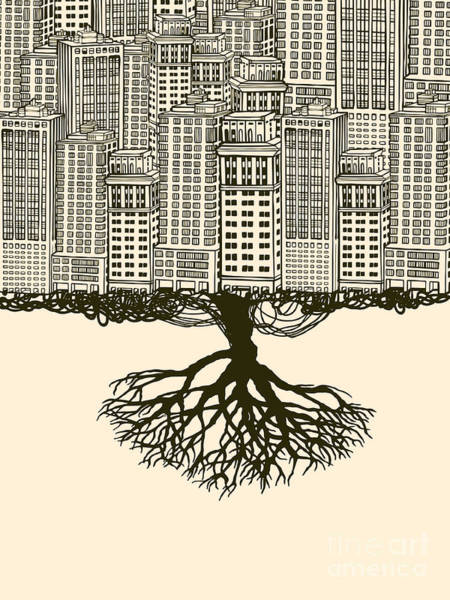 Roots Wall Art - Digital Art - Root Of The Big City by Ryger