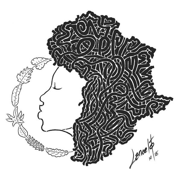 Trinidad Drawing - Roots Of Humanity by Lancelot Chancel