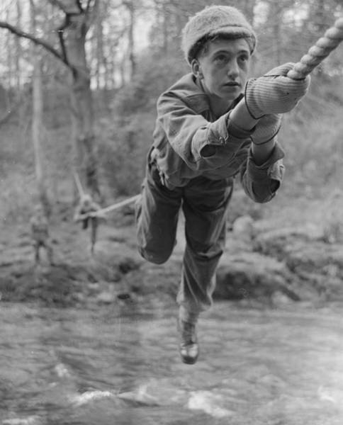 Protective Clothing Photograph - Rope Crossing by John Drysdale