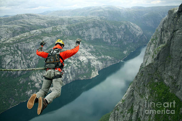 Courage Wall Art - Photograph - Rope Jumping by Vitalii Nesterchuk