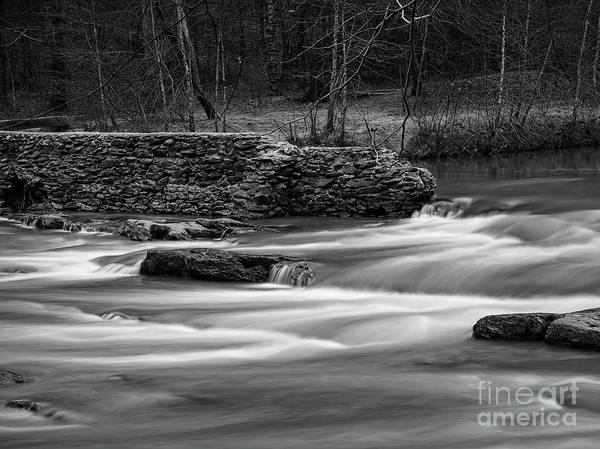 Hillside Wall Art - Digital Art - Rope Mill Dam by Elijah Knight