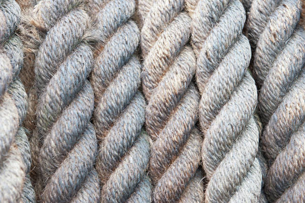 Photograph - Rope Texture I by Helen Northcott