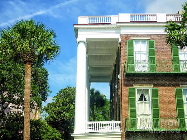 Photograph - Roper House Balcony In Charleston by John Rizzuto