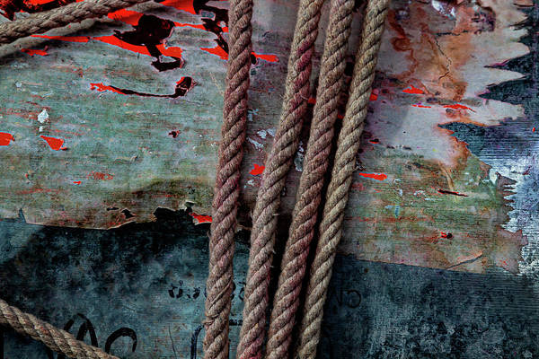 Photograph - Ropes And Peeling Paint by Robert Ullmann
