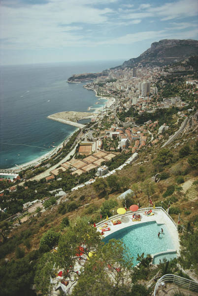 Swimming Pool Photograph - Roquebrune-cap-martin by Slim Aarons