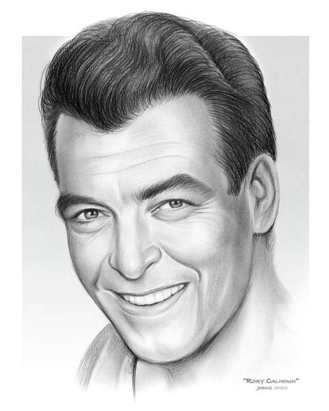 Wall Art - Drawing - Rory Calhoun by Greg Joens