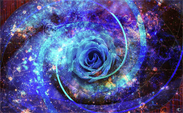 Digital Art - Rosa Azul by Kenneth Armand Johnson