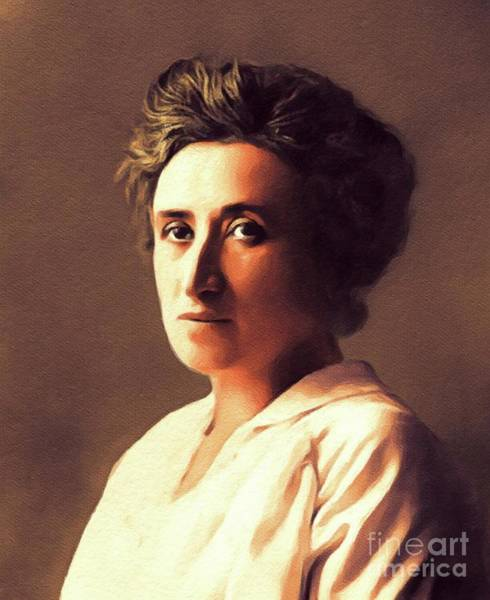 Philosopher Wall Art - Painting - Rosa Luxemburg, Philosopher And Activist by John Springfield