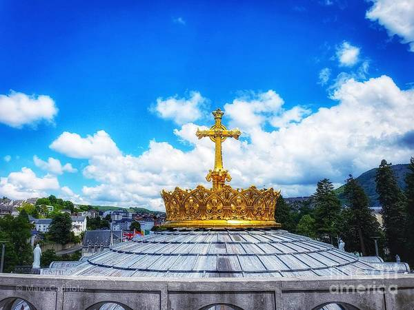 Photograph - Rosary Basilica At Lourdes by Mary Capriole