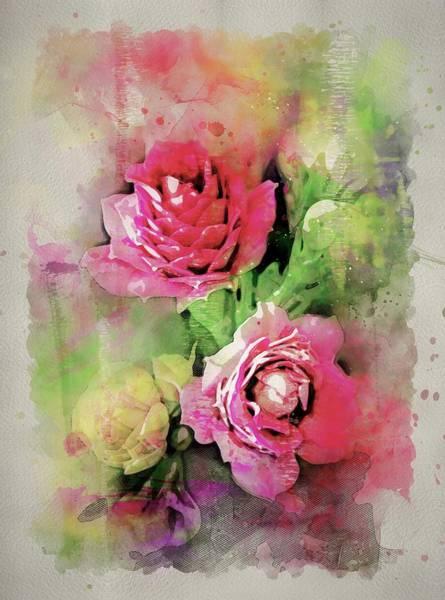Wall Art - Painting - Rose Bouquet by ArtMarketJapan