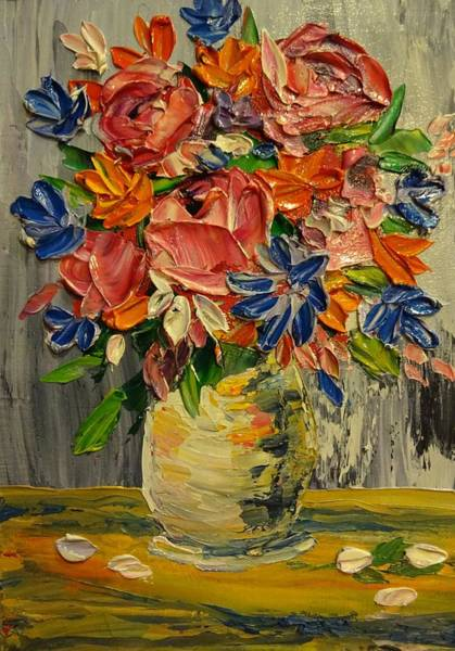 Painting - Rose Bouquet by Merrie Kapron Taverna