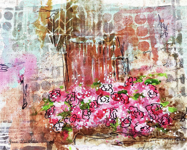Mixed Media - Rose Bundle With Copper Pot by Janis Lee Colon