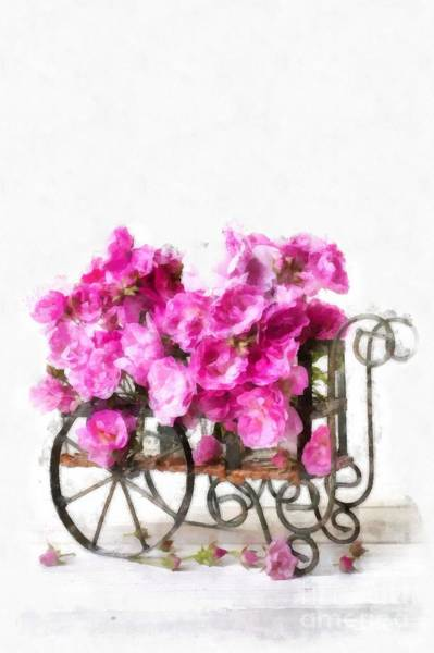 Wagon Digital Art - Rose Cart  by Edward Fielding