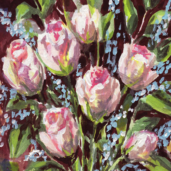 Wall Art - Painting - Rose Day Bouquet Floral Impressionism  by Irina Sztukowski