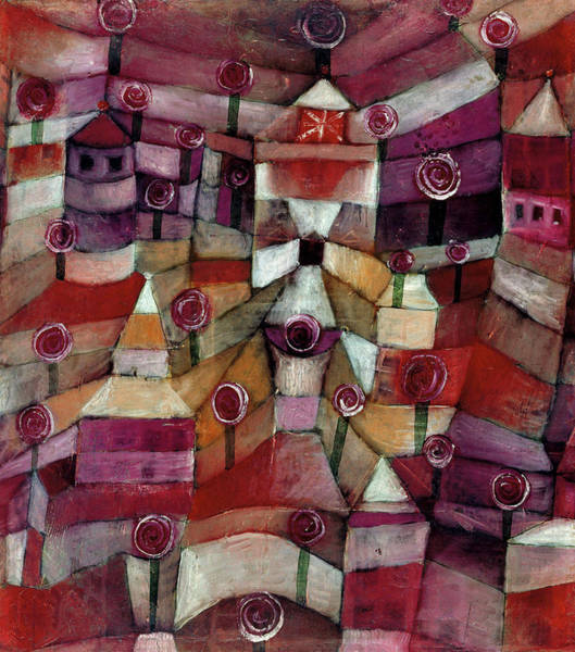 Wall Art - Painting - Rose Garden, 1920 by Paul Klee