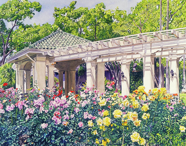 Painting - Rose Garden Beauty by David Lloyd Glover