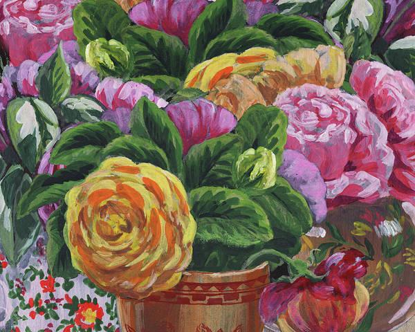 Painting - Rose Garden Bouquets Floral Impressionism  by Irina Sztukowski